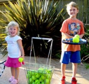 """Simon Says """"balance the ball on your tennis racquet"""""""