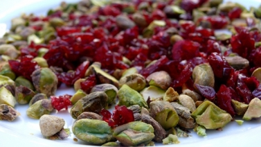 pistachios and cranberries